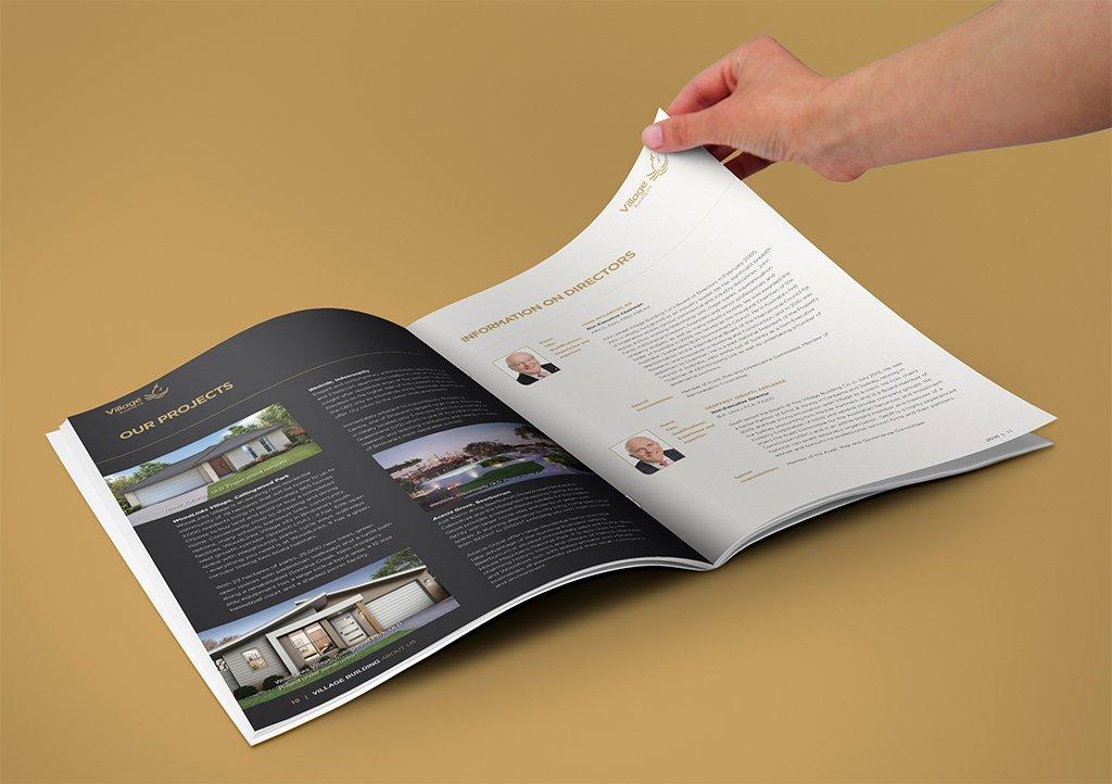 Village Building Co Annual Report Spread